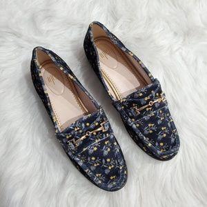 CAbi Carnaby Velvet Loafer Size 7 NWOB
